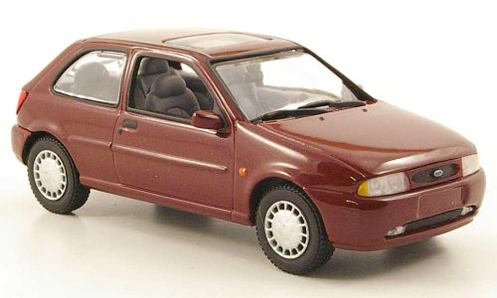 Ford Fiesta 1996 1/43 Minichamps MKIV rouge 3-portes