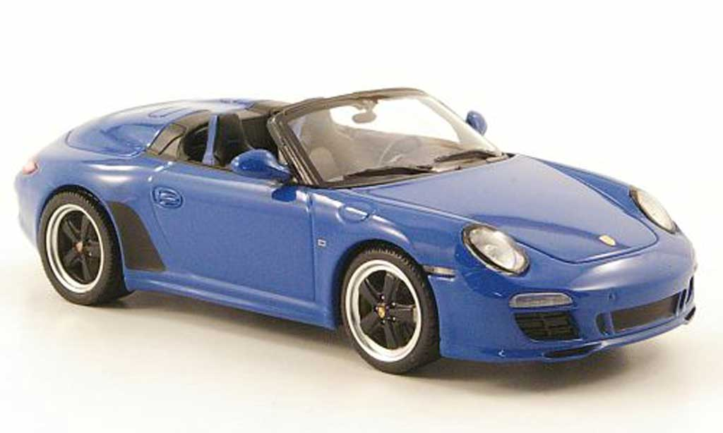 Porsche 997 S 1/43 Minichamps peedster bleu 2010 diecast model cars