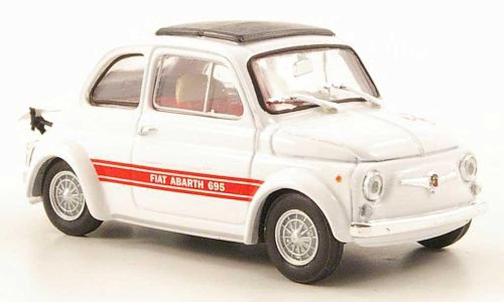 Fiat 695 1/43 Brumm SS Abarth white 1968 diecast model cars