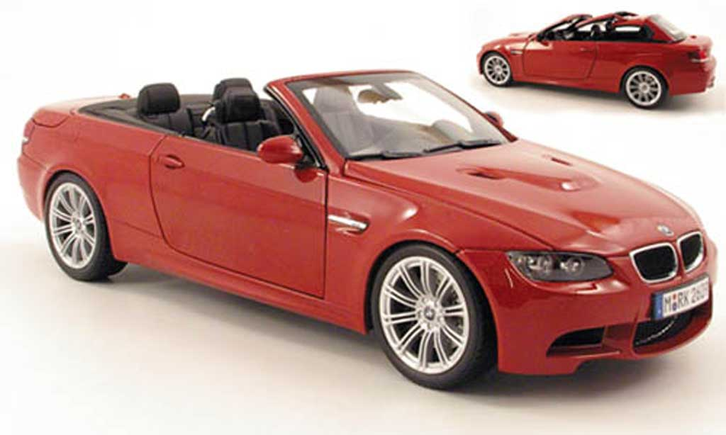 Bmw M3 E93 1/18 Kyosho cabriolet red diecast model cars