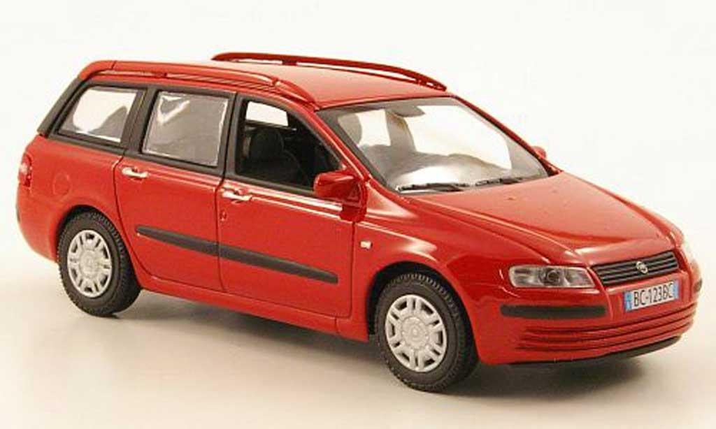 Fiat Stilo 1/43 Hachette  SW roja 2002 miniatura