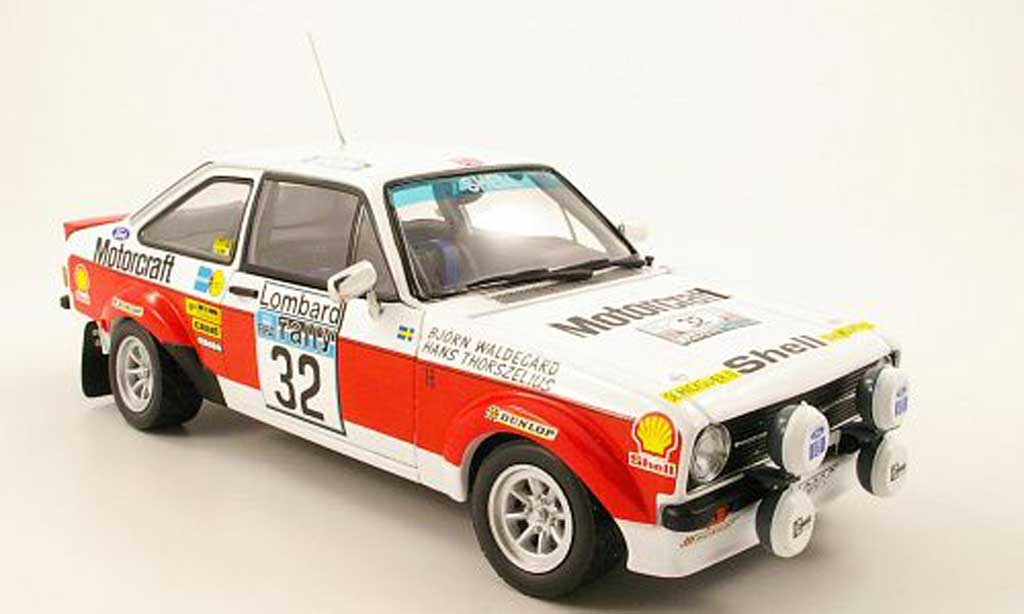 Ford Escort MK2 1/18 Sun Star MK2 no.32 motorcraft rac rallye 1976 miniature