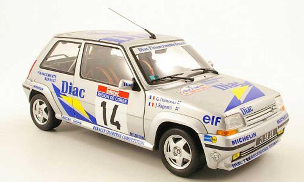 Renault 5 GT Turbo 1/18 Norev no.14 diac tour de corse 1990 j.ragnotti / g.thimonier miniature
