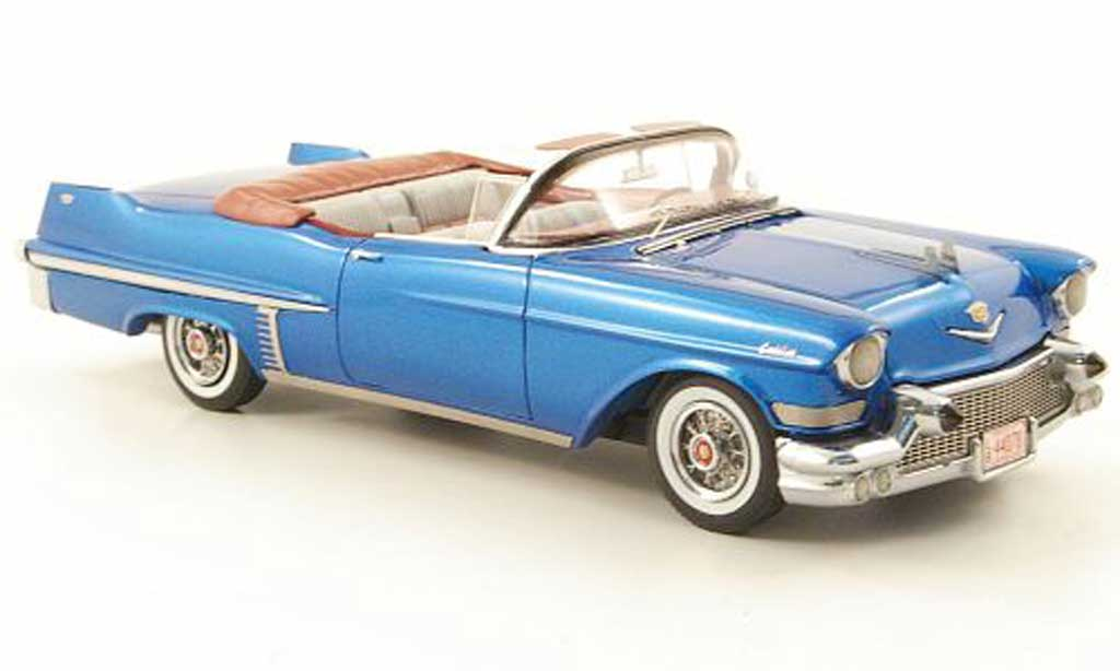 Cadillac Series 62 1957 1/43 American Excellence 1957 Convertible bleu limite. edition 500 miniature