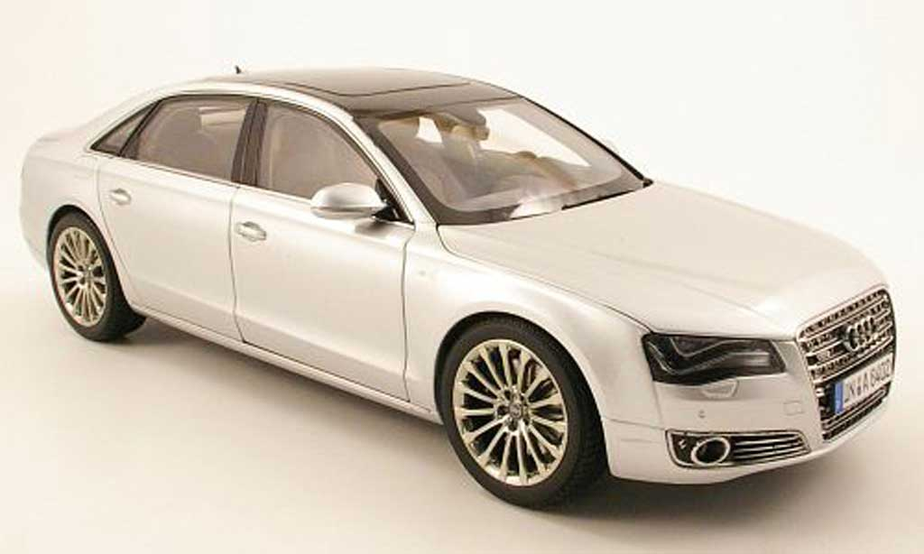 Audi A8 W12 1/18 Kyosho l grise metallisee 2010 miniature