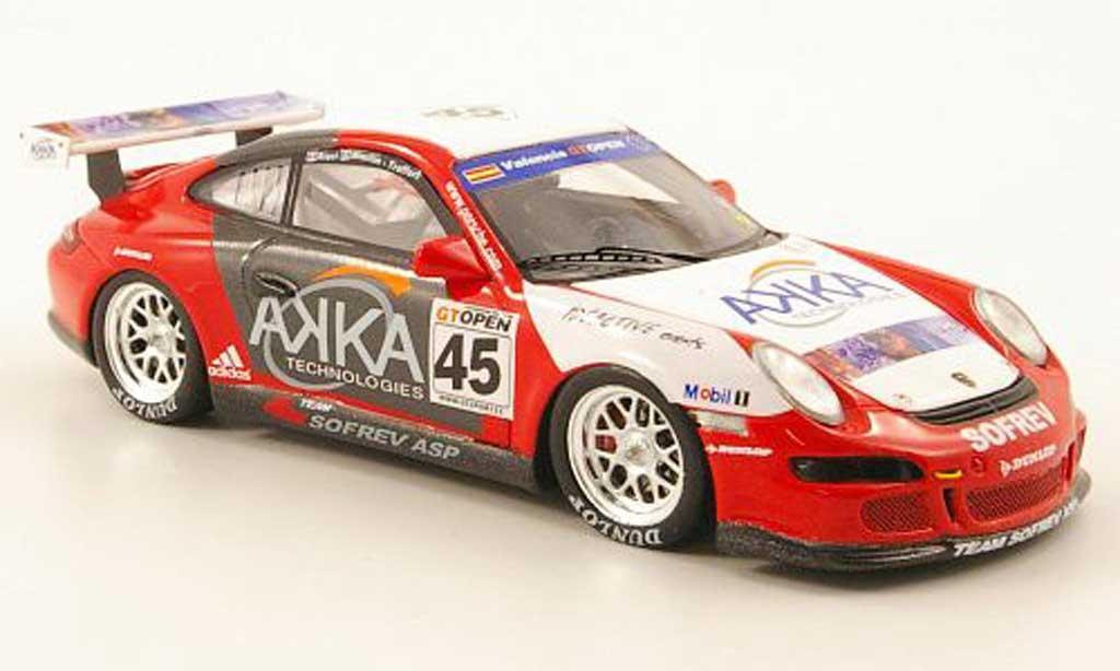 Porsche 997 GT3 Cup 2007 1/43 Spark No.45 AKKA Team Sofrev GTB Valencia miniature
