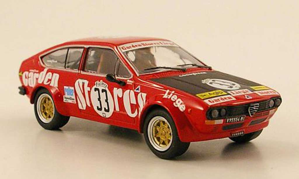 Alfa Romeo GT 2.0 1/43 M4 V 2.0 Alfetta No.33 1000km Spa 1976 diecast model cars