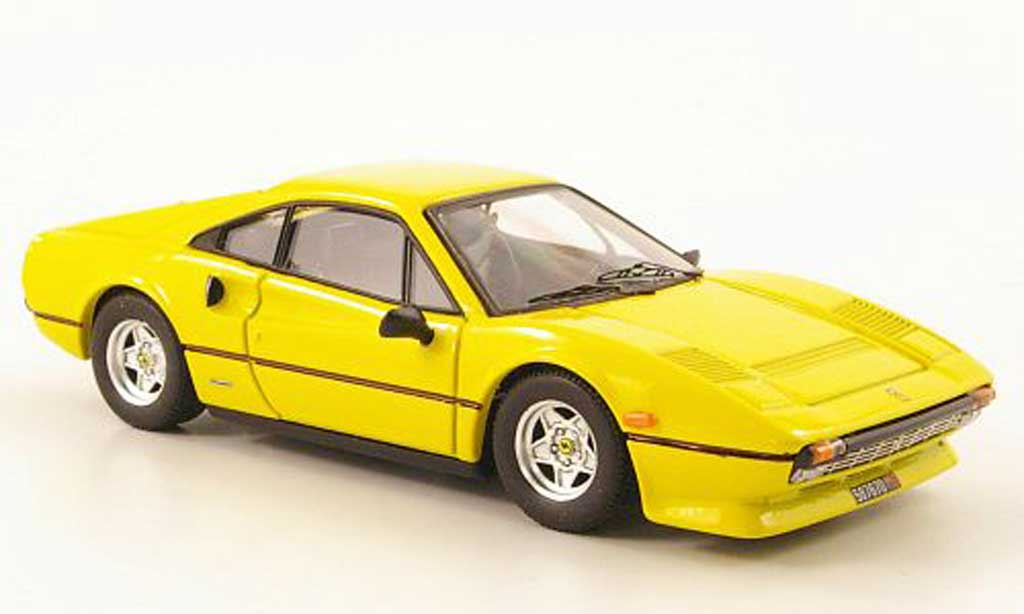 Ferrari 308 GTB 1/43 Best Quattrovalvole yellow diecast model cars