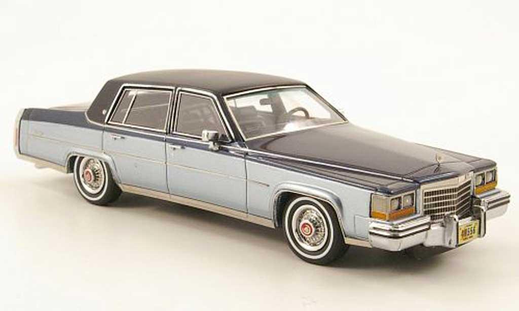 Cadillac Fleetwood Brougham 1/43 Neo bleu clair/noire-bleu/noire  1980 miniature