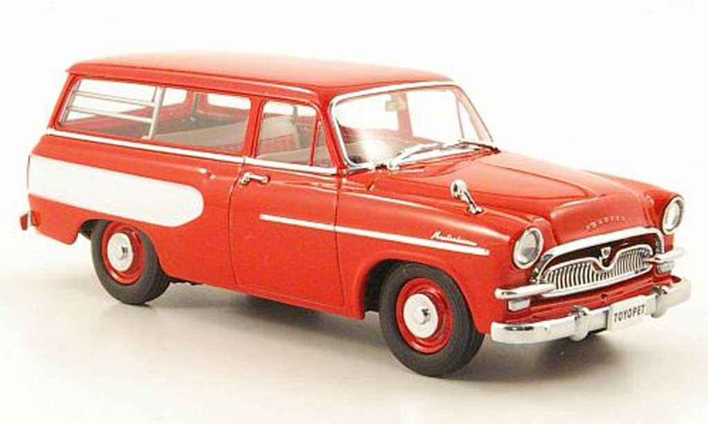 Toyopet Masterline 1/43 Ebbro Light Van rouge/blanche 1959 miniature