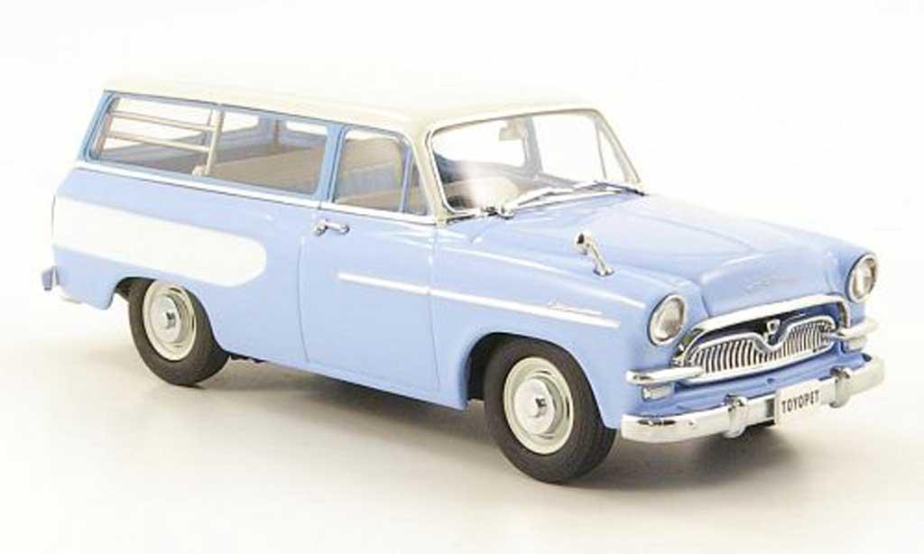 Toyopet Masterline 1/43 Ebbro Light Van bleu/blanche 1959 miniature
