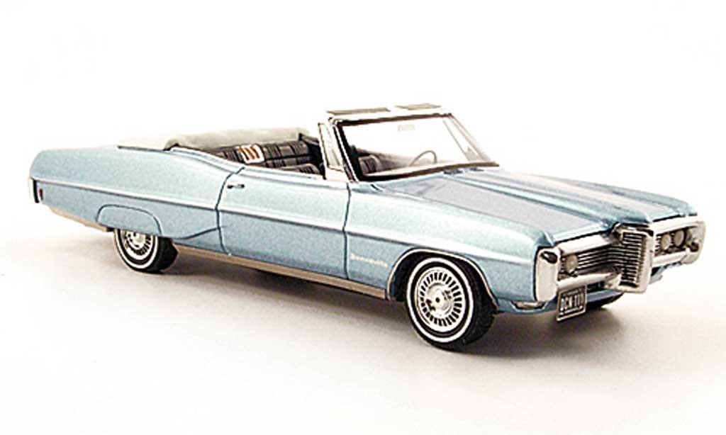 Pontiac Bonneville 1/43 Neo Convertible bleu 1968 miniature