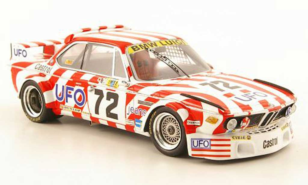 Bmw 3.0 CSL 1/43 Spark No.72 UFO 24h Le Mans 1977 diecast model cars