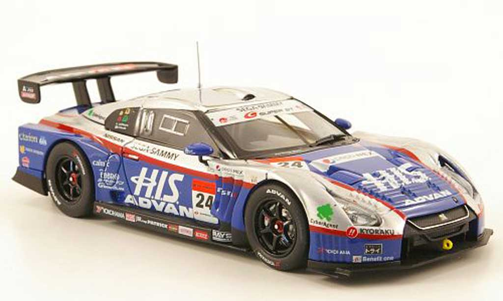 Nissan Skyline 1/43 Ebbro GT-R No.24 HIS Advan Super GT500 Sepang 2010 modellautos