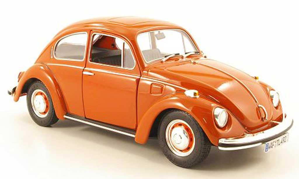 Volkswagen Kafer 1/18 Revell 1302 s naranja 40 ans de volkswagen 1970 - 2010 miniatura