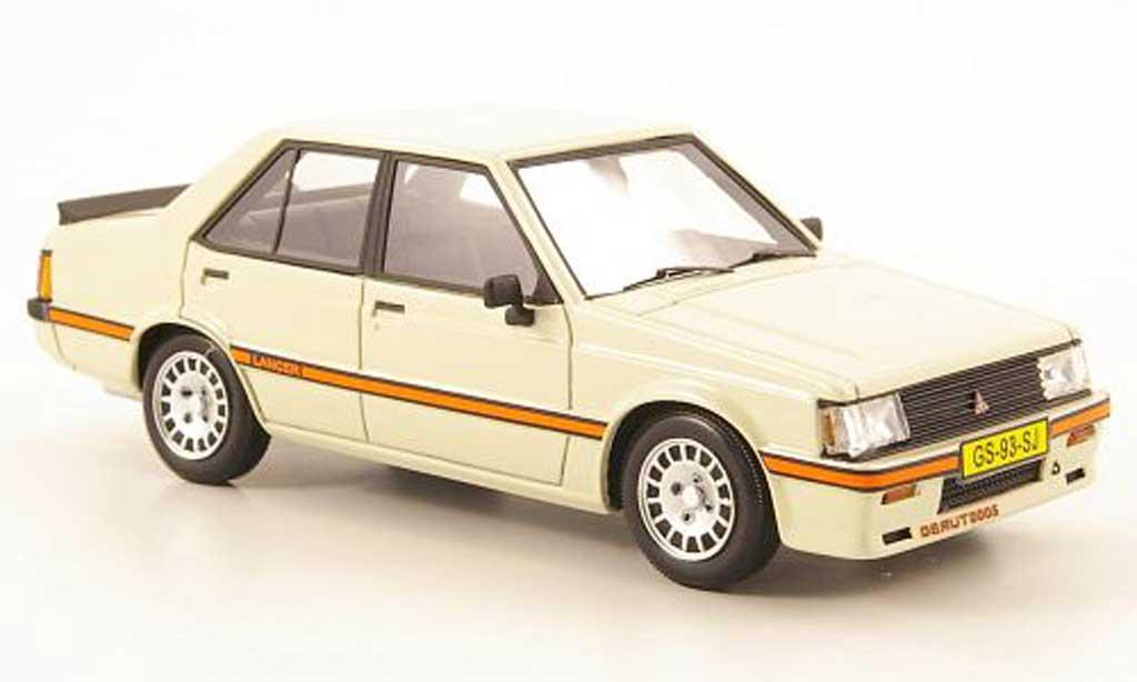 Mitsubishi Lancer 2000 Turbo 1/43 Neo EX PW cremeblanche 1980 miniature