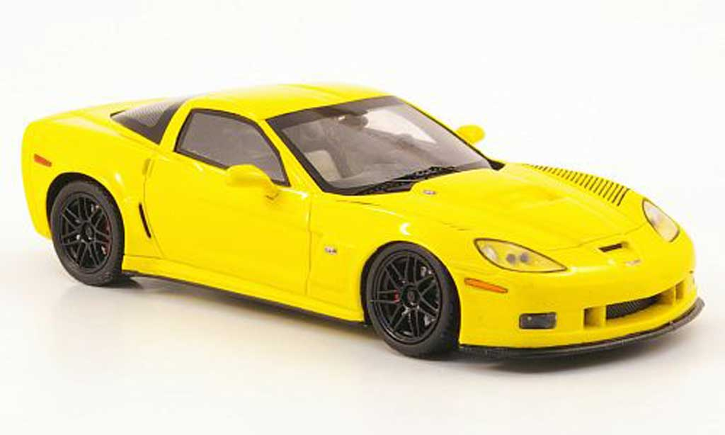 Chevrolet Corvette C6 1/43 Spark  Coupe jaune 2009 miniature