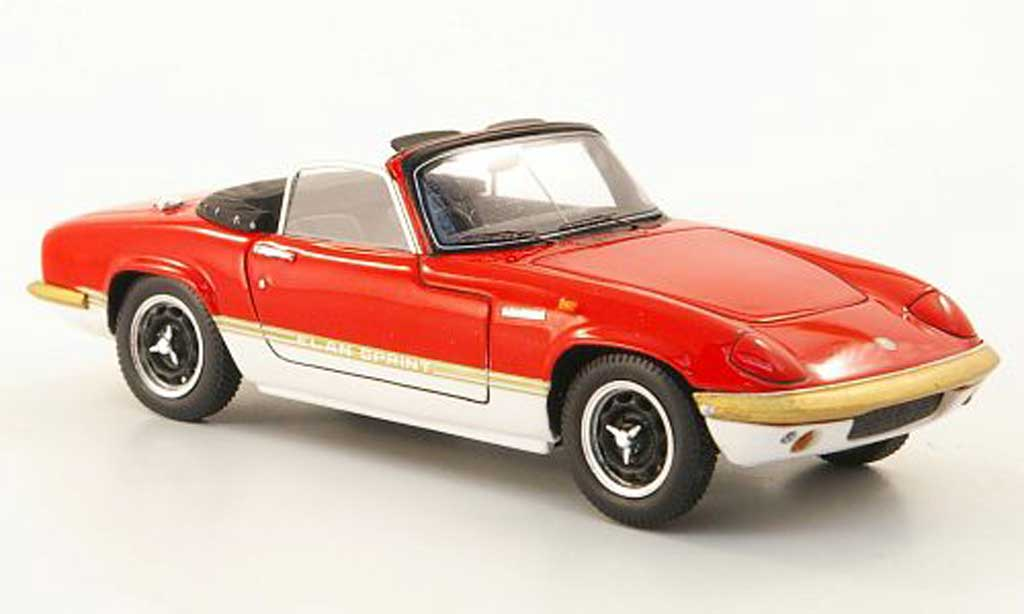 Lotus Elan 1/43 Spark S4 Sprint DHC rouge/blanche 1971 miniature