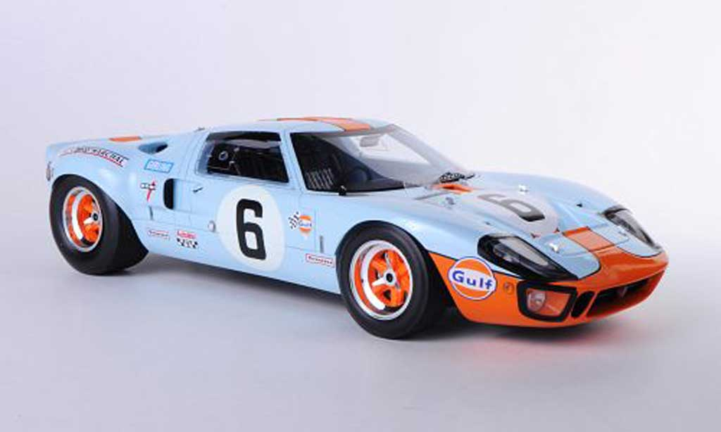 Ford GT 40 1/18 Spark No.6 Gulf J.Ickx / J.Oliver 24h Le Mans 1969 miniature
