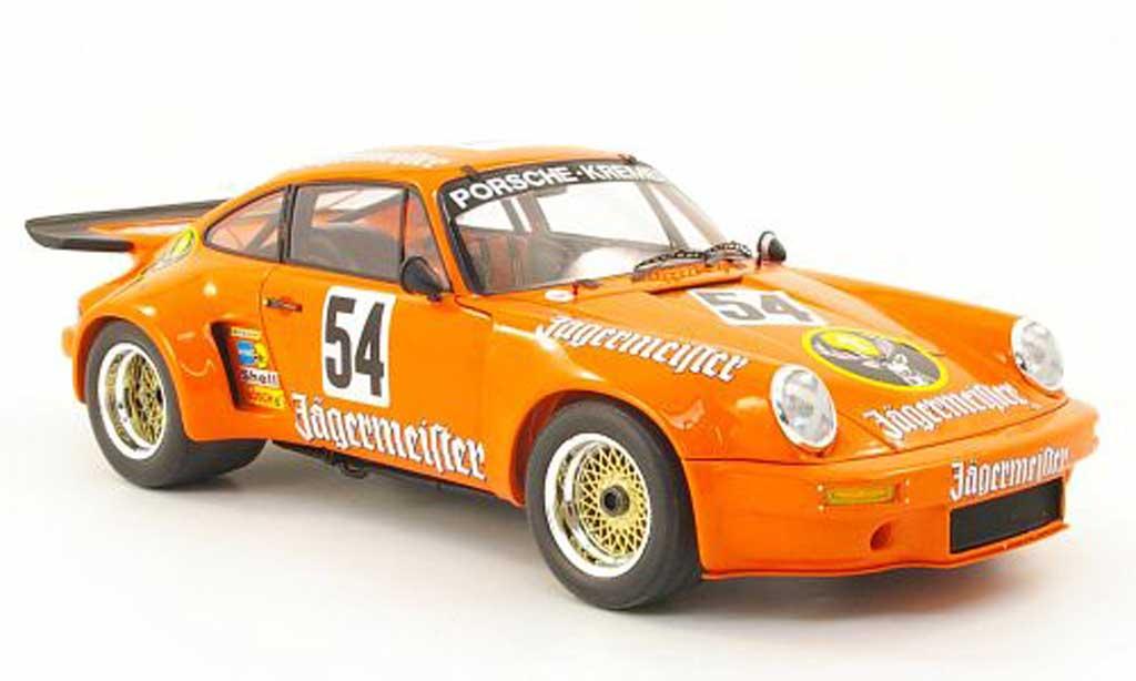 Porsche 930 RSR 1/18 Spark 3.0 no.54 jagermeister b.wollek nurburgring 1975 miniature