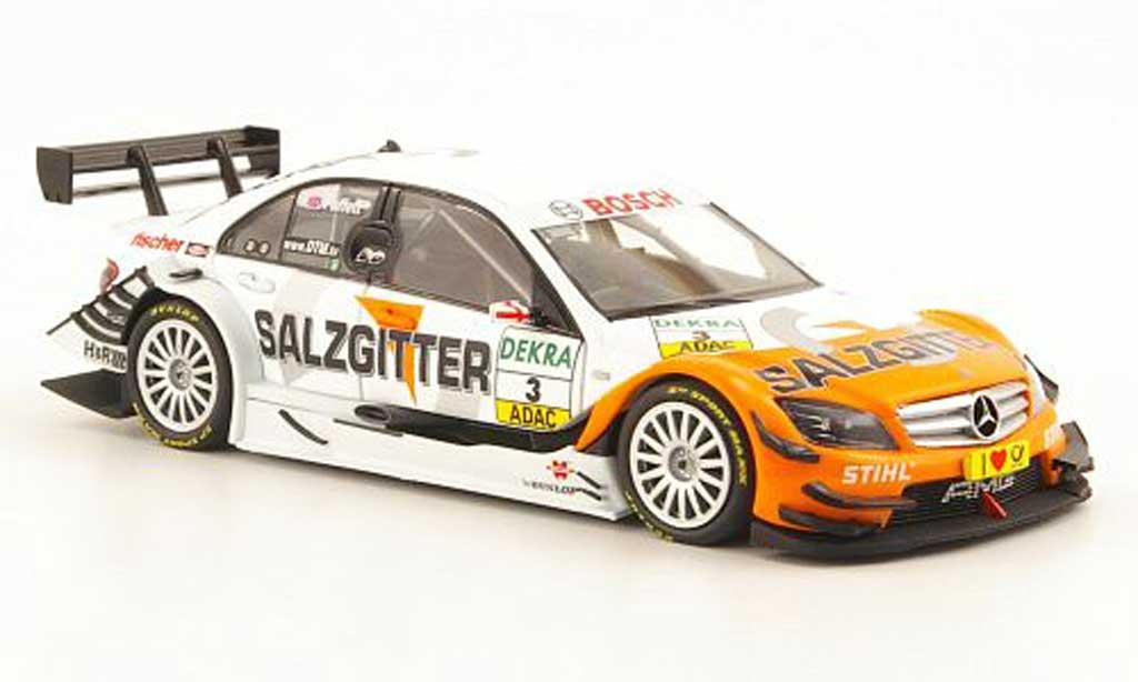 Mercedes Classe C DTM 1/43 Minichamps No.3 Salzgitter Saison 2010 diecast model cars