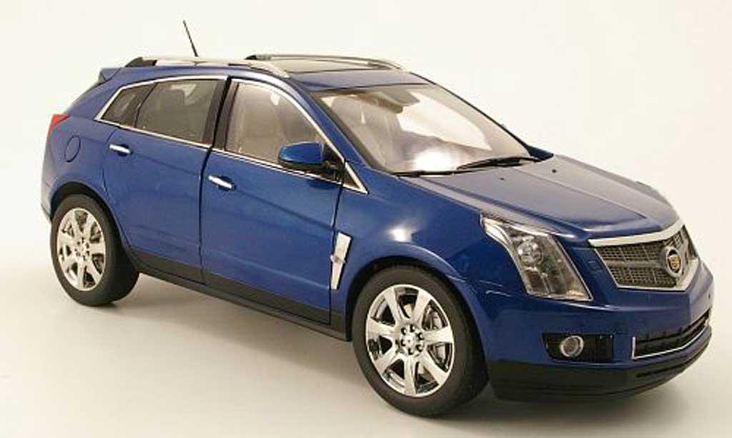 Cadillac SRX 1/18 Kyosho crossover bleu miniatura