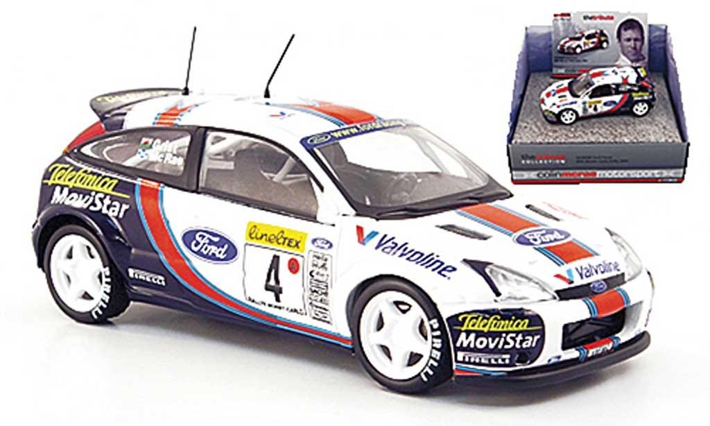 Ford Focus RS WRC 1/43 Vanguards No.4 Ford/Telefonica McRae/Grist Rally Monte Carlo 2001