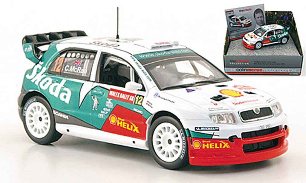 Skoda Fabia WRC 1/43 Vanguards Turbo No.12 McRae Wales Rally of Great Britain 2005