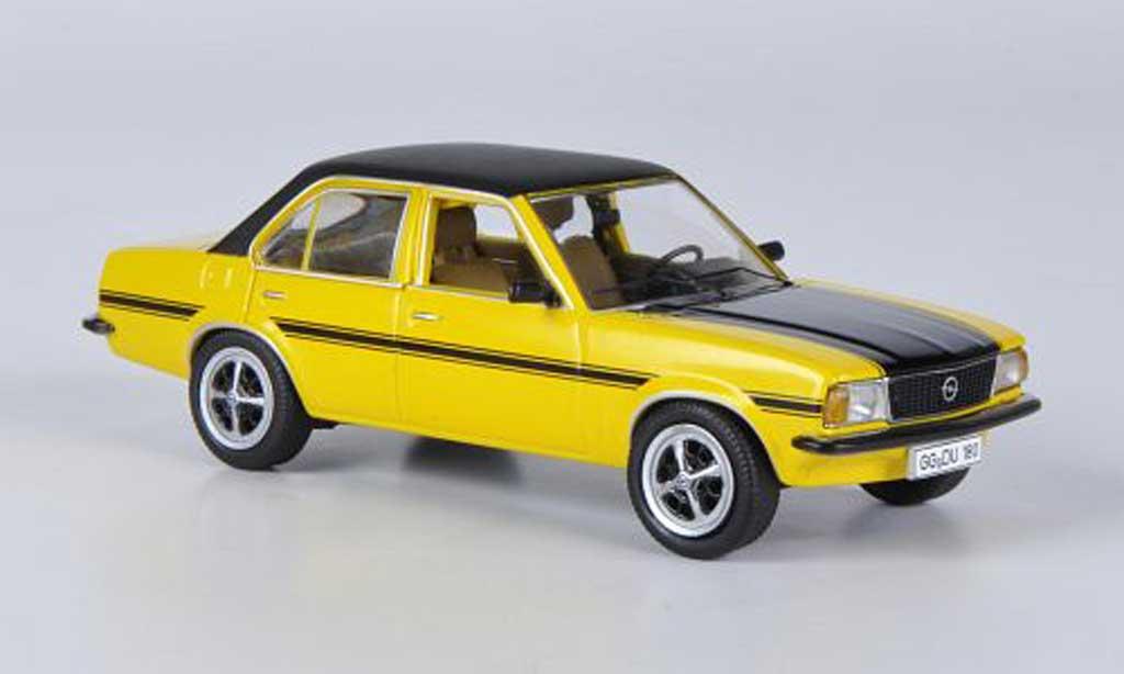Opel Ascona B 1/43 Schuco SR jaune/noire miniature