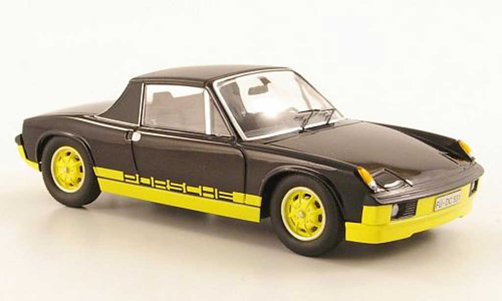 Porsche 914 1/43 Schuco black/yellow ''Bumblebee'' diecast model cars