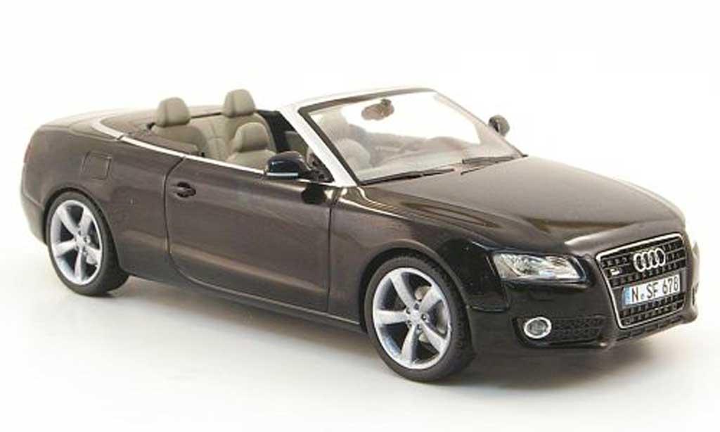 Audi A5 1/43 Schuco Cabriolet noire miniature