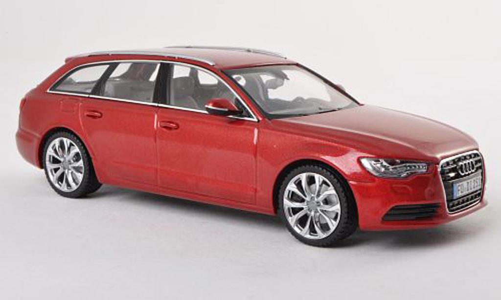 Audi A6 1/43 Schuco Avant (C7) roja  miniatura