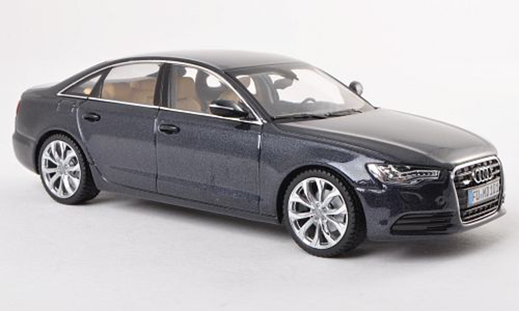 Audi A6 1/43 Schuco (C7) bleu-gris  miniature