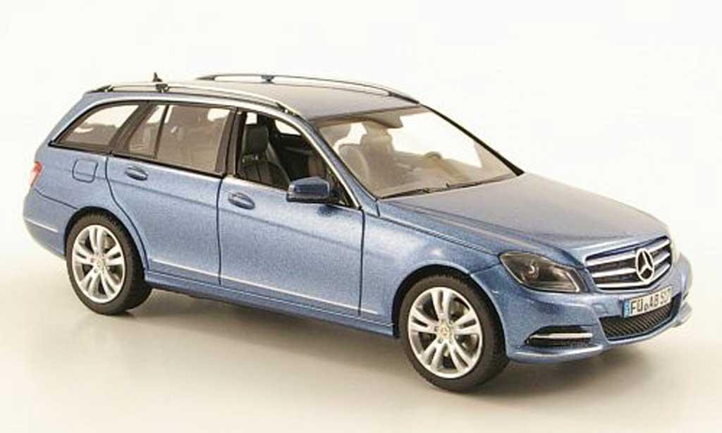 Mercedes Classe C 1/43 Schuco T-Modell (S204) bleu Avantgarde modellautos