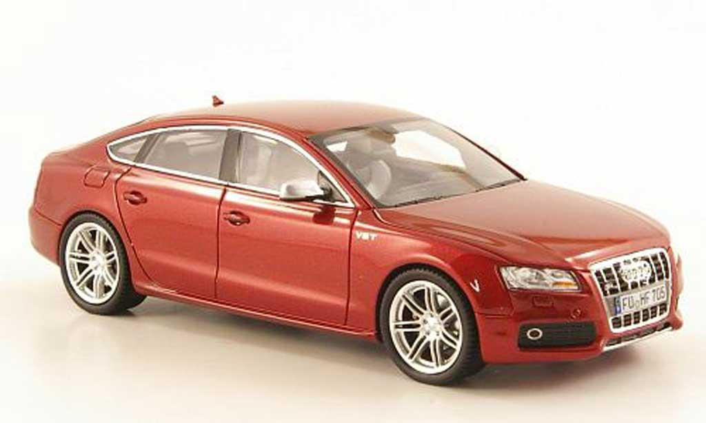 Audi S5 1/43 Schuco Sportback rouge miniature