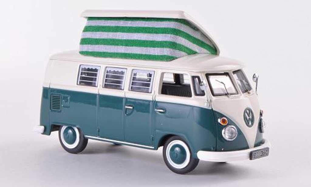 Volkswagen T1 1/43 Schuco Campingbus grun/weiss modellautos