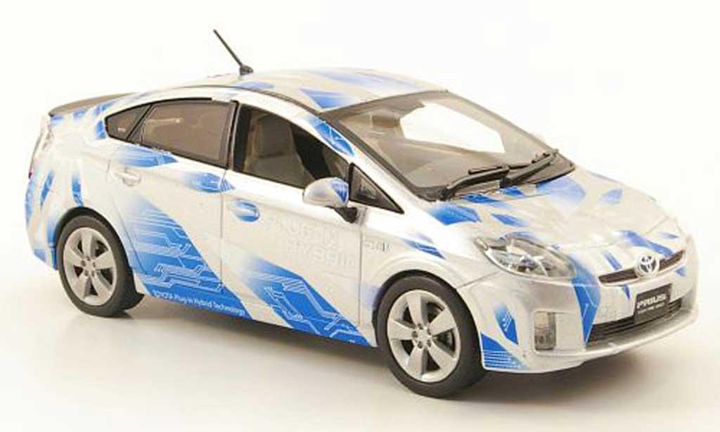 Toyota Prius 1/43 J Collection III Plug-In Hybrid grise/bleu
