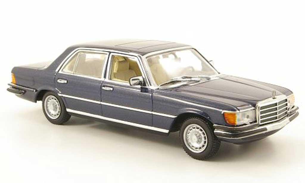 Mercedes 450 SEL 1/43 Minichamps 6.9 (W116) bleu miniature