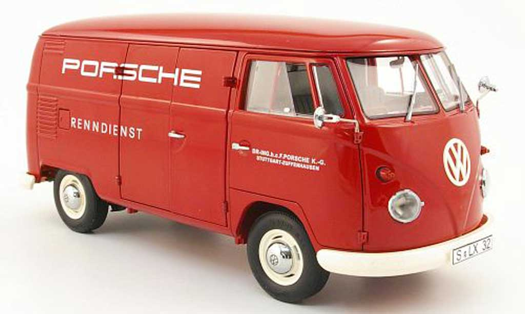 Volkswagen Combi 1/18 Schuco t1 kasten porsche renndienst diecast