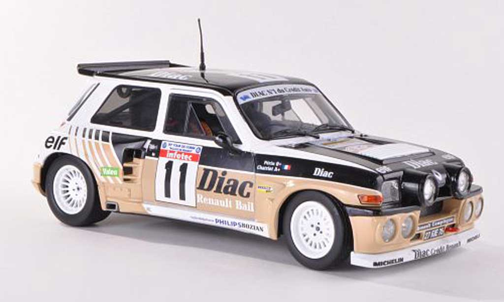Renault 5 Turbo 1/18 Solido Maxi No.11 Diac Tour de Corse 198 miniature