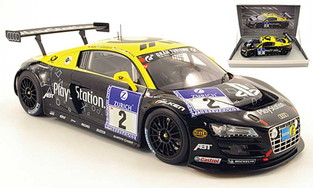 Audi R8 LMS 1/18 Spark no.2 playstation 24h nurburgring 2010 abt / collard / luhr / mies miniature