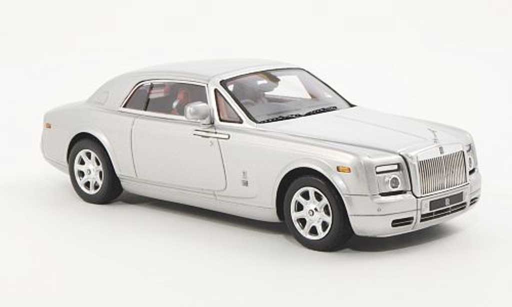 Rolls Royce Phantom 2009 1/43 TrueScale Miniatures Coupe grise/grise RHD miniature