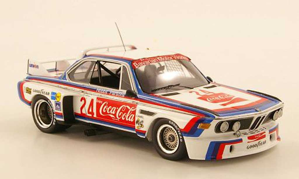 Bmw 3.0 CSL 1/43 TrueScale Miniatures No.24 Coca Cola Hobbs / Parsons 24h Daytona 1976 diecast