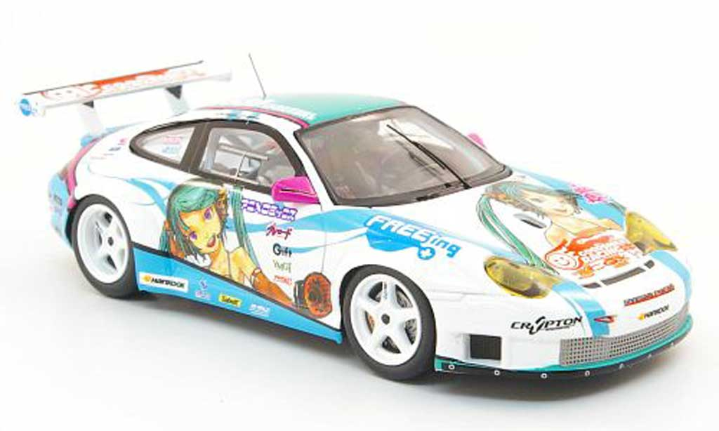 Porsche 996 GT3 RSR 1/43 Fujimi Good Smile Racing 2010 miniature