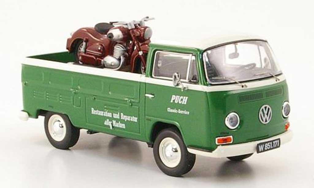 Volkswagen T2 1/43 Premium ClassiXXs Puch Pritsche Puch Classic Service mit SGS als Ladegut diecast