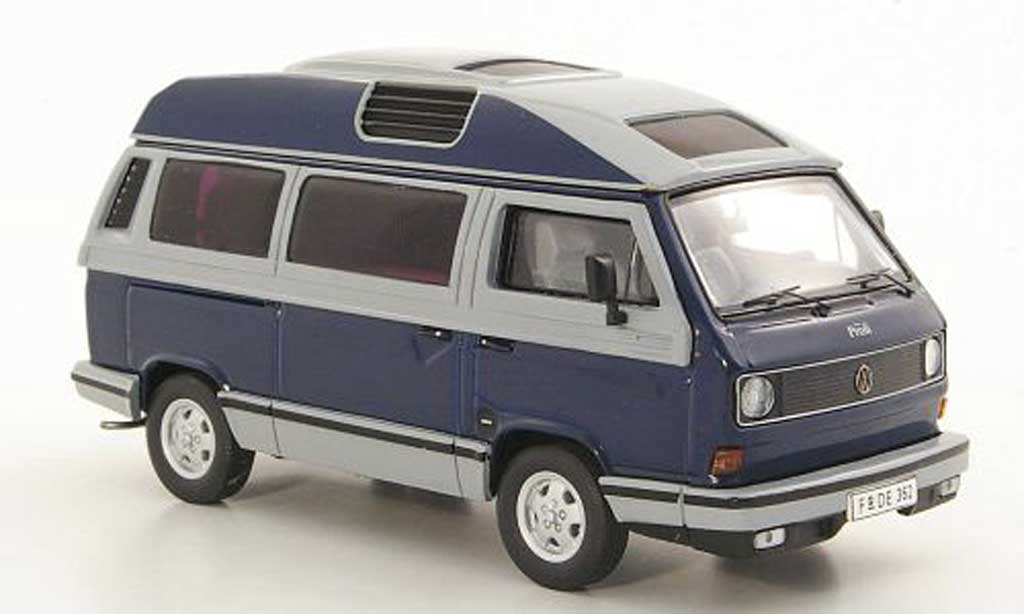 Volkswagen T3 A 1/43 Premium ClassiXXs a Dehler-Profi bleu/grise miniature