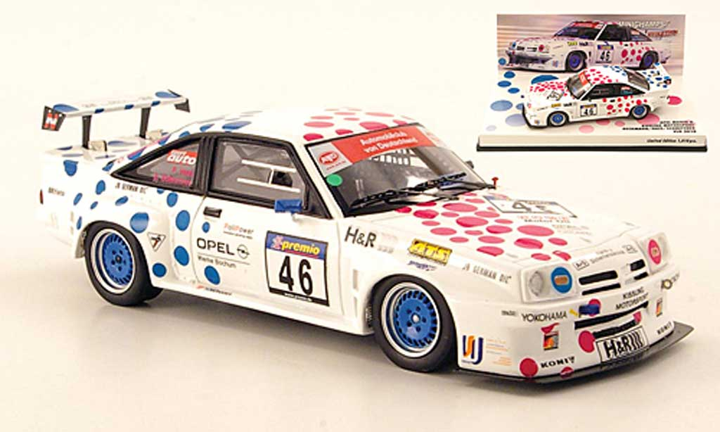 Opel Manta B 1/43 Minichamps No.46 Kissling Motorsport VLN Nurburgring 2010 miniature