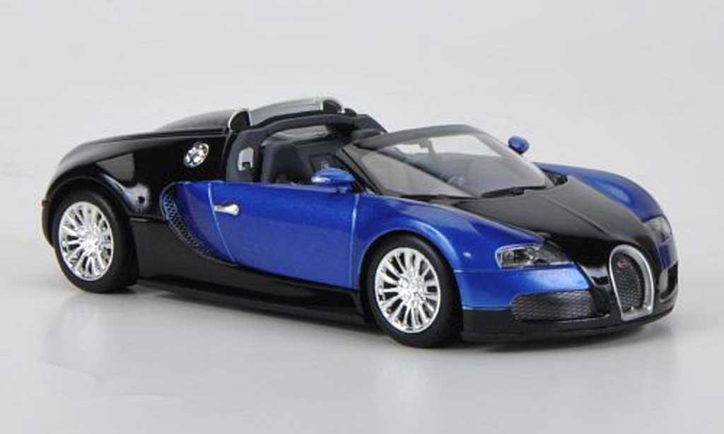 Bugatti Veyron Grand Sport 1/43 Minichamps noire/bleu 2010 miniature