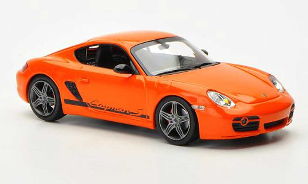 Porsche Cayman 1/43 Minichamps S Sport (987) orange 2008 miniature