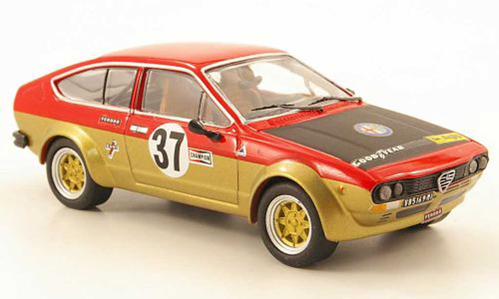Alfa Romeo GT 2.0 1/43 M4 V 2.0 Alfetta No.37 1000 km Spa 1976 diecast model cars